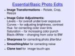 essential basic photo edits