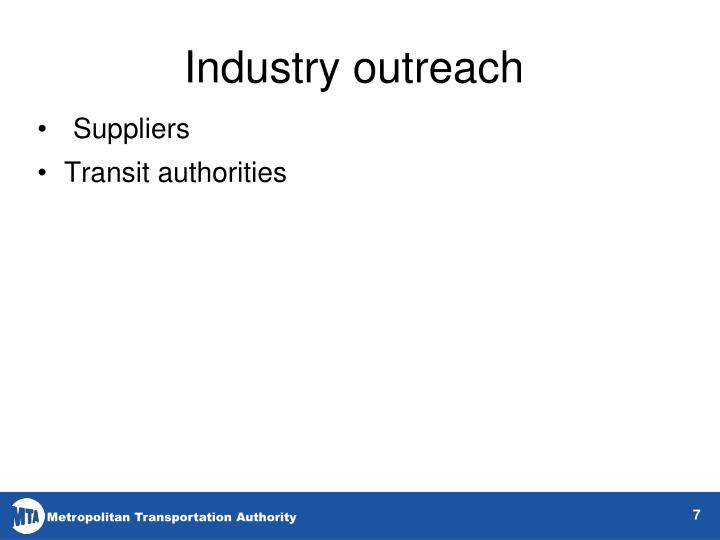 Industry outreach