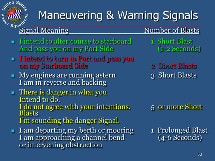 Maneuvering & Warning Signals