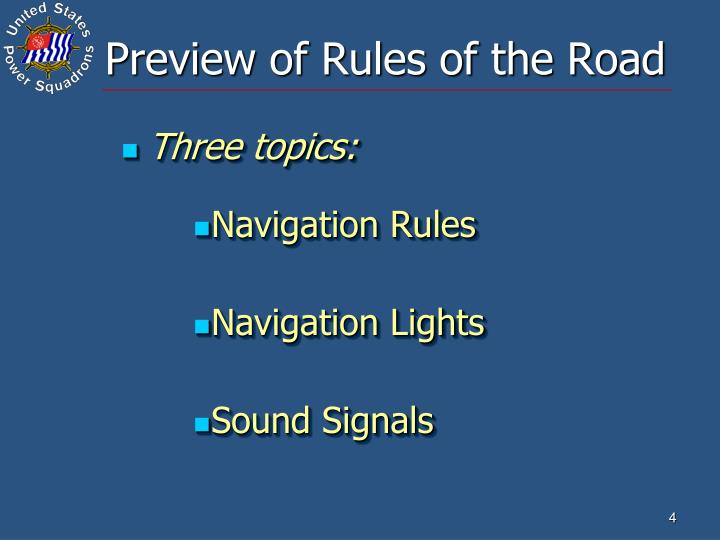 Preview of Rules of the Road