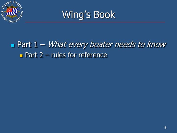 Wing's Book