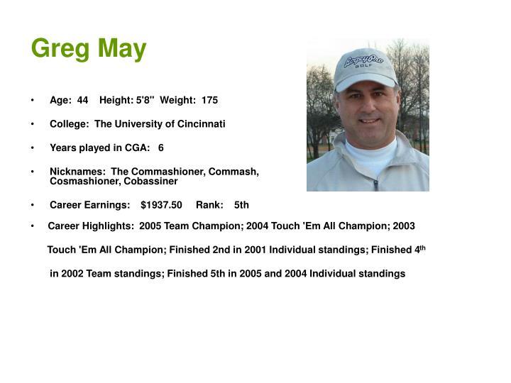 Greg May