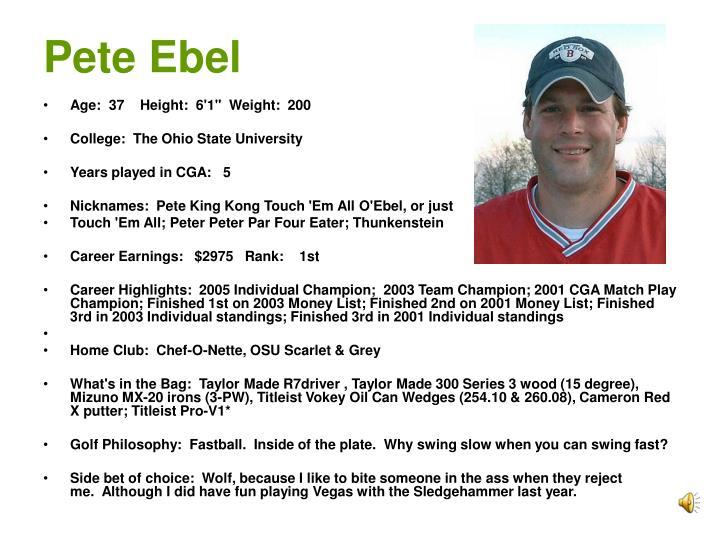 Pete Ebel