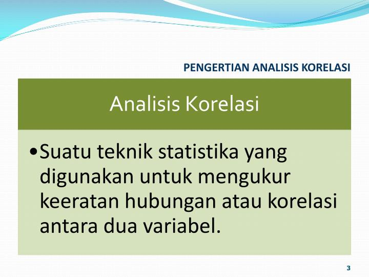 Pengertian analisis korelasi