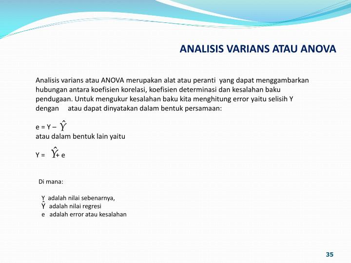 Analisis varians atau ANOVA m