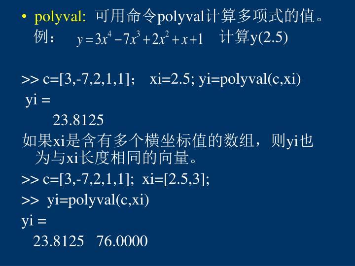 polyval: