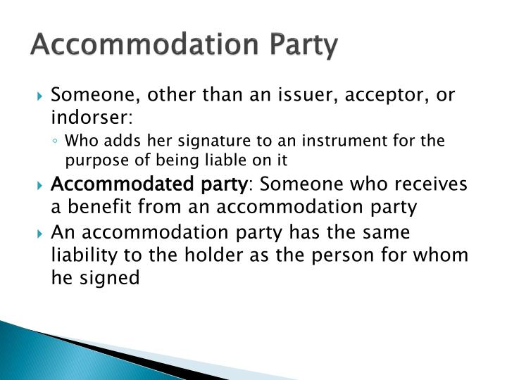 Accommodation Party