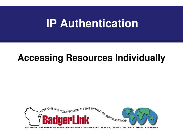 IP Authentication