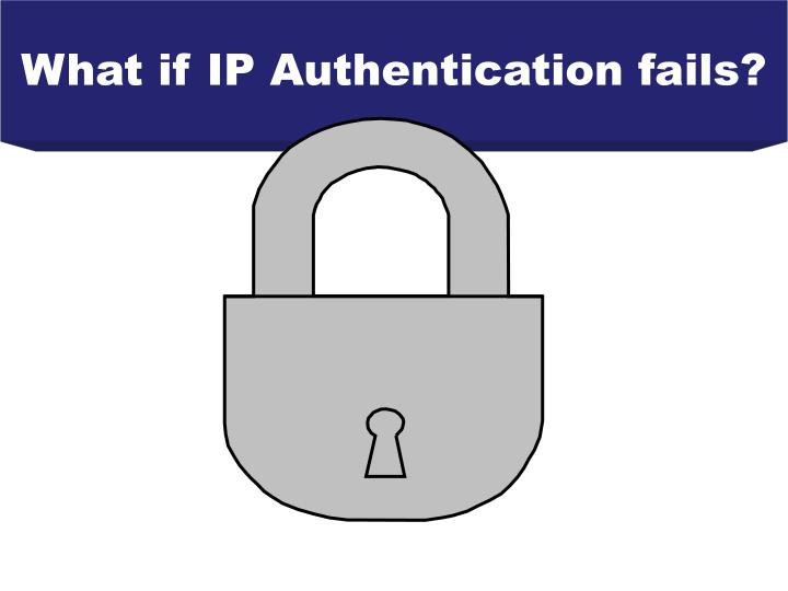 What if IP Authentication fails?