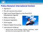 policy demand international context