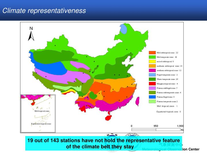 Climate representativeness