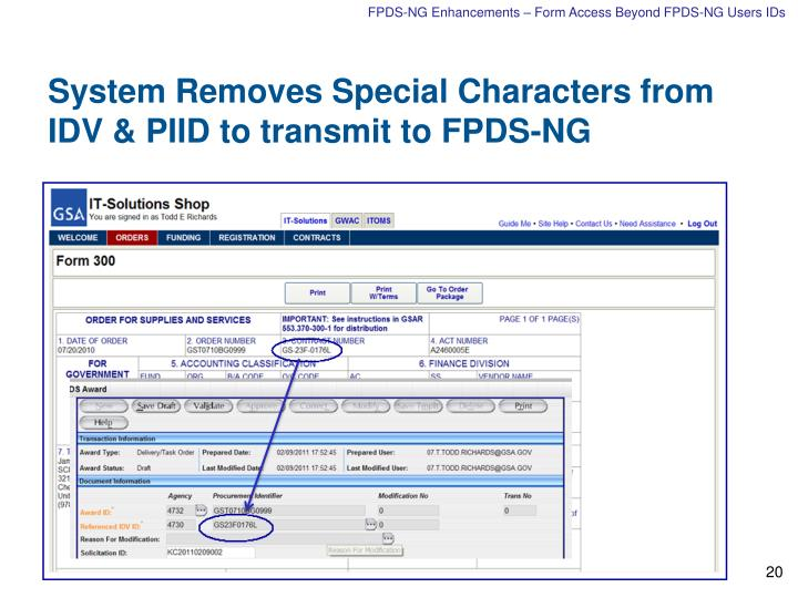 FPDS-NG Enhancements – Form Access Beyond FPDS-NG Users IDs