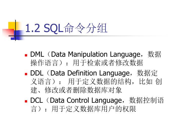 1.2 SQL