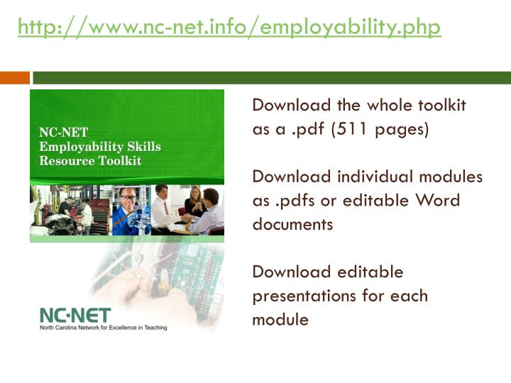 http://www.nc-net.info/employability.php
