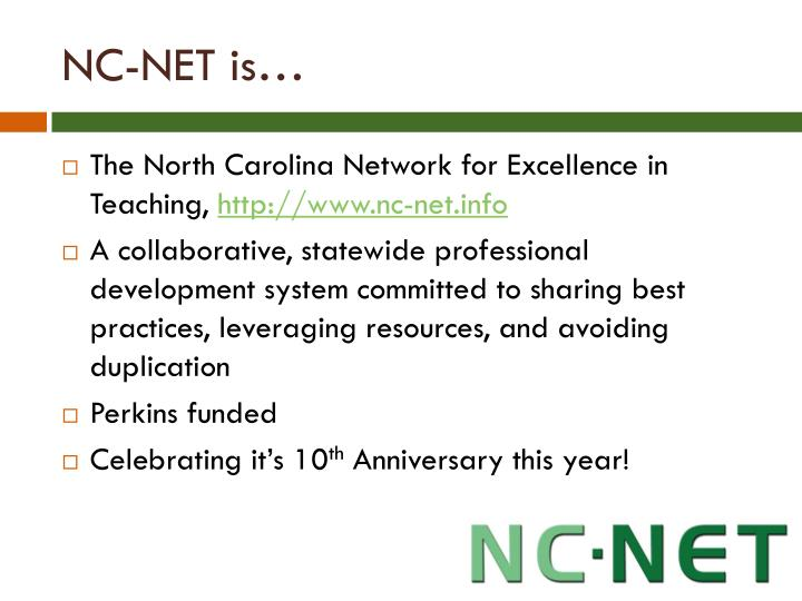 NC-NET is…
