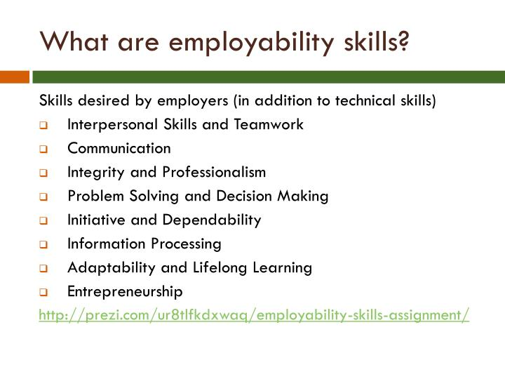 What are employability skills?