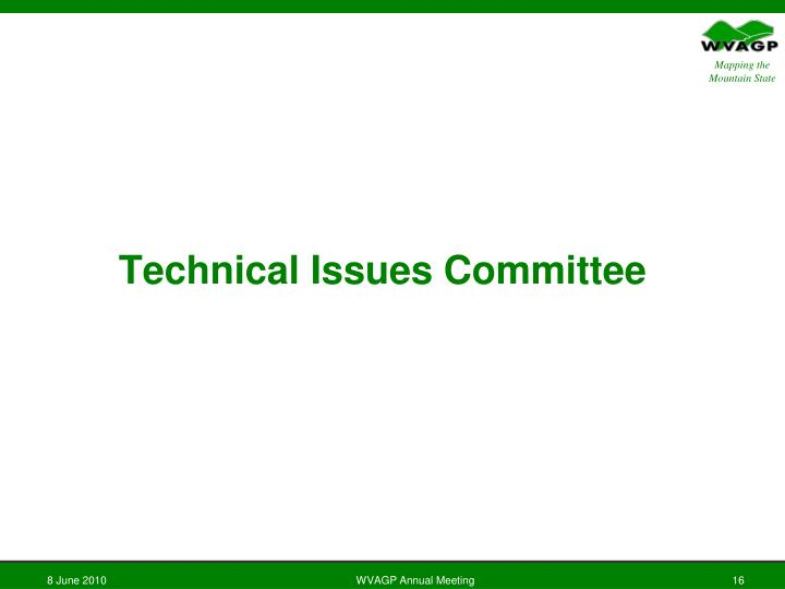 Technical Issues Committee