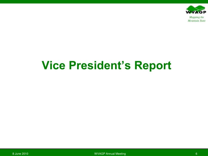 Vice President's Report