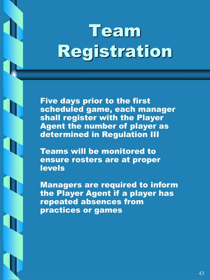Team Registration