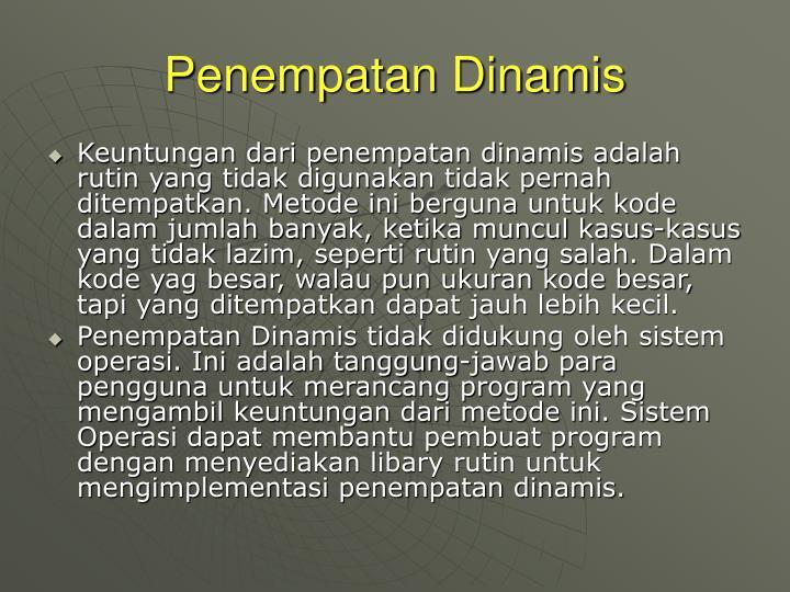 Penempatan Dinamis