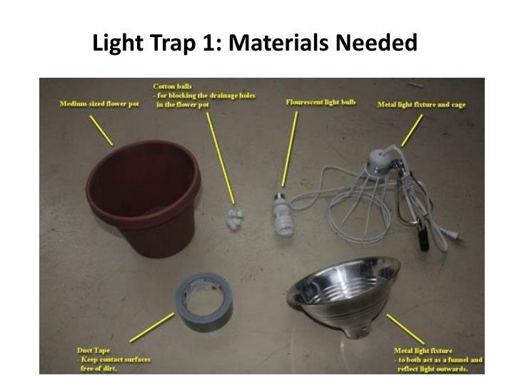 Light Trap 1: Materials Needed
