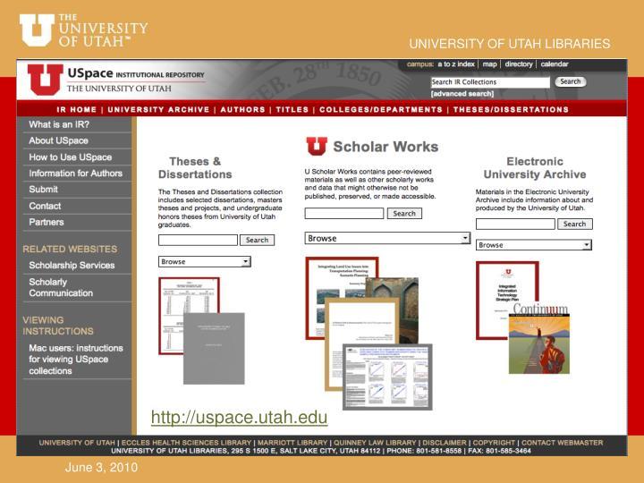 http://uspace.utah.edu