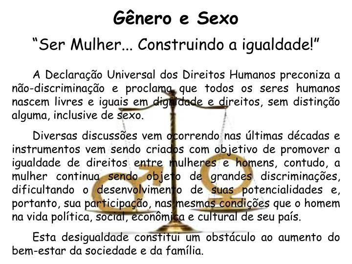 Gênero e Sexo