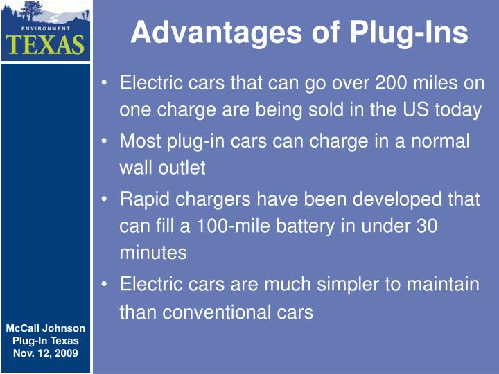 Advantages of plug ins