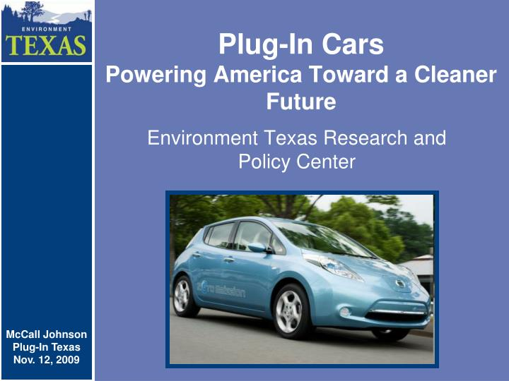 Plug in cars powering america toward a cleaner future