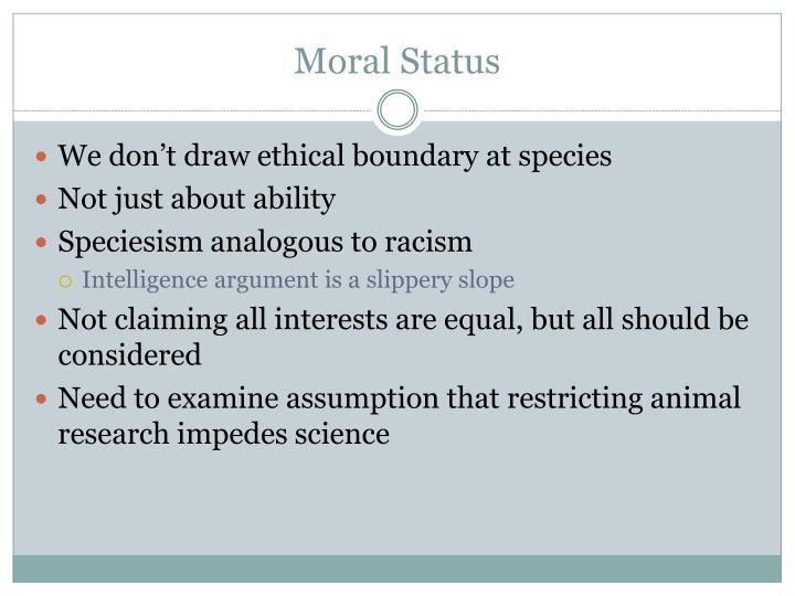Moral Status
