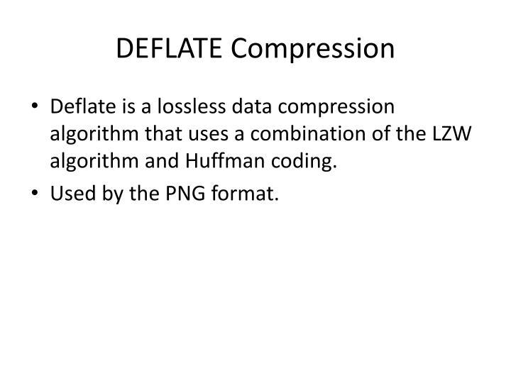 DEFLATE Compression