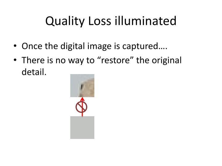 Quality Loss illuminated