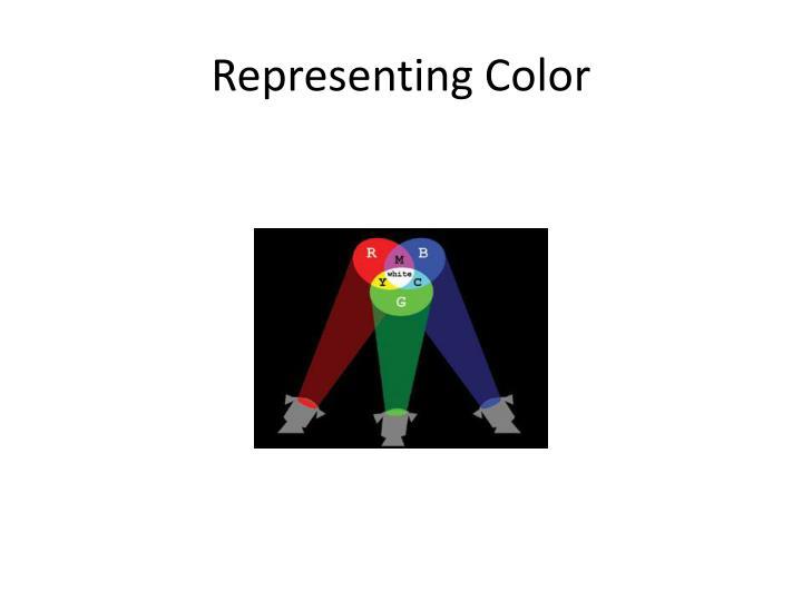 Representing Color