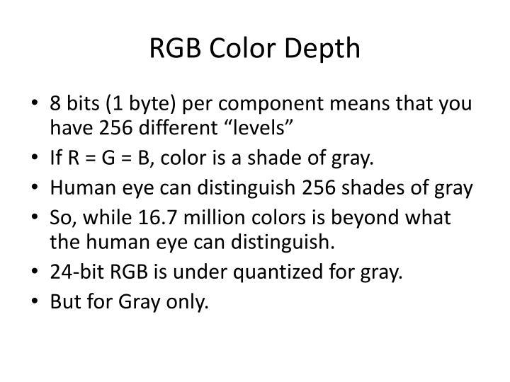 RGB Color Depth