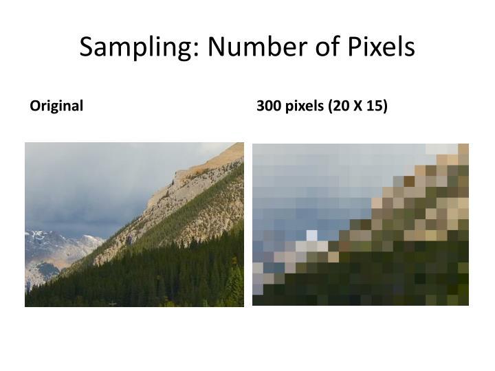 Sampling: Number of Pixels