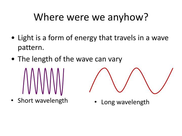 Short wavelength