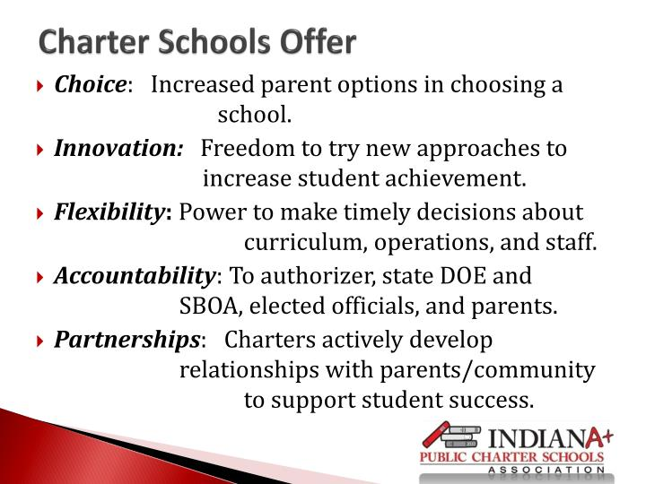 Charter Schools Offer