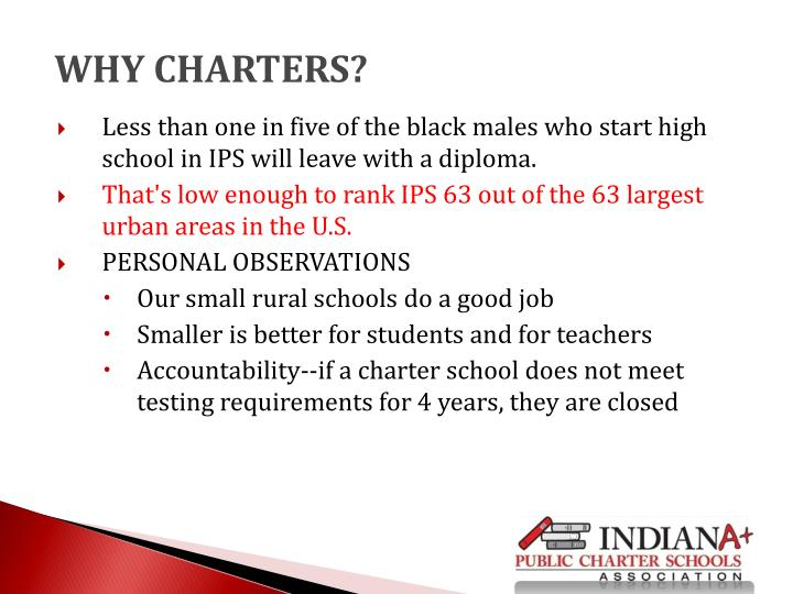 WHY CHARTERS?