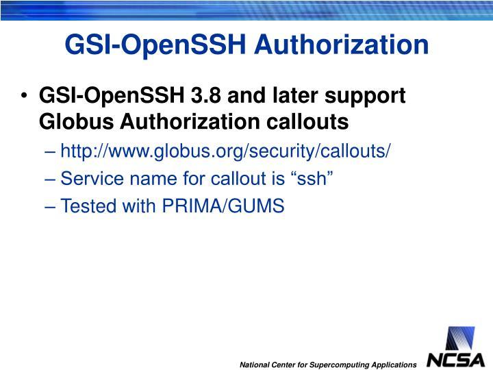 GSI-OpenSSH Authorization