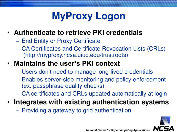 MyProxy Logon