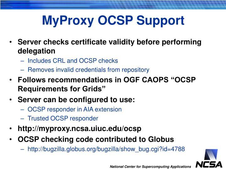 MyProxy OCSP Support