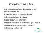 compliance with rules