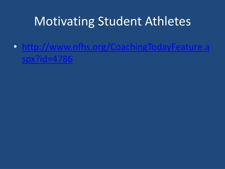 Motivating Student Athletes