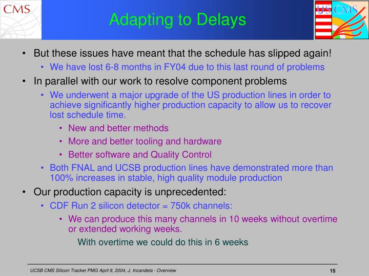 Adapting to Delays