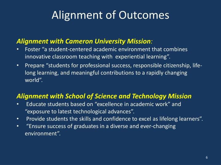 Alignment of Outcomes