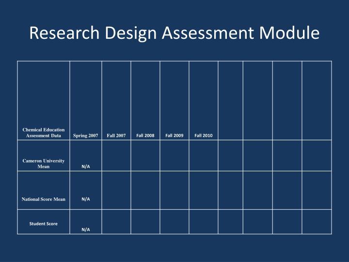 Research Design Assessment Module