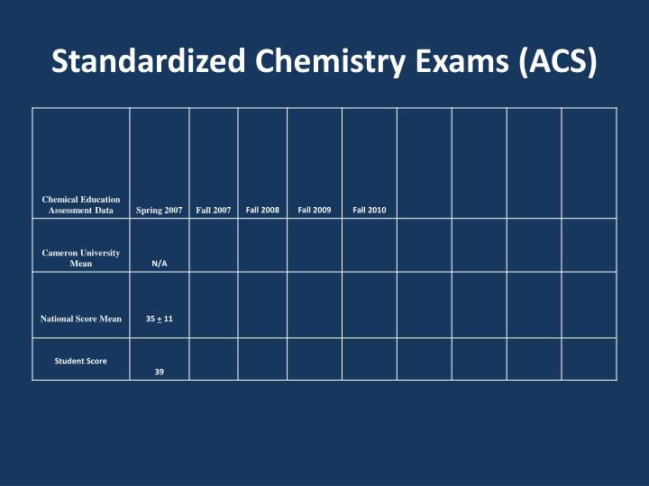 Standardized Chemistry Exams (ACS)