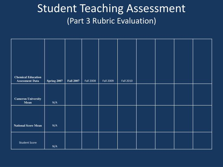 Student Teaching Assessment