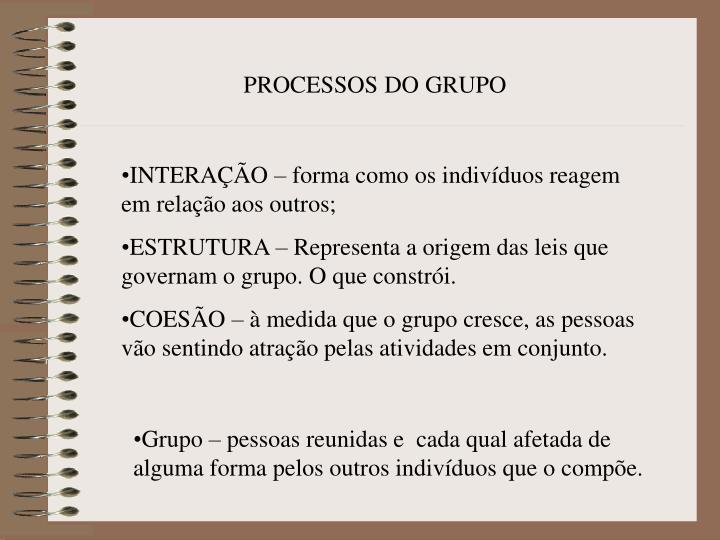 PROCESSOS DO GRUPO