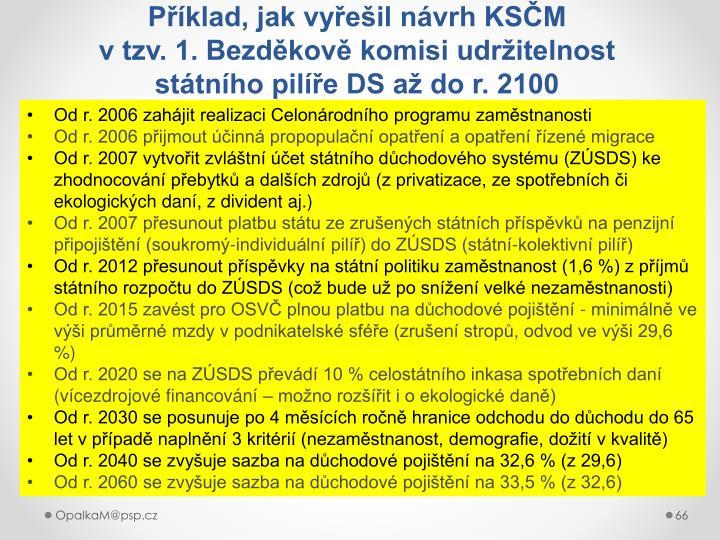 Příklad, jak vyřešil návrh KSČM